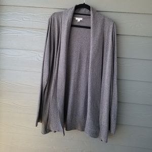 CROFT & BARROW Gray Cardigan 2X